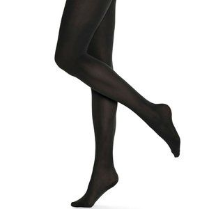 Hue Size 1 Opaque Tights Non Control Top Black